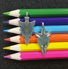 10 PCS - Indian Arrow Head Native American Silver Charm Pendant C0429