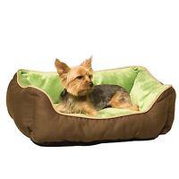 "K&H Manufacturing Self-Warming Lounge Dog Bed Small Pet Mocha/Green 16"" x 20"""