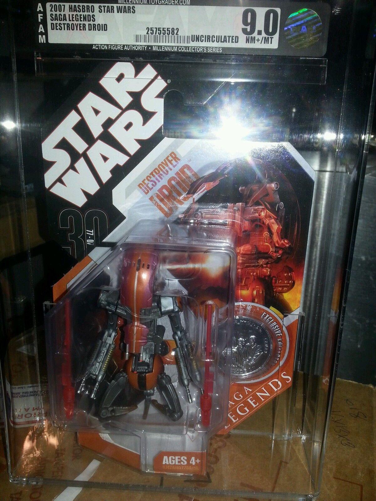 Star Star Star wars Destroyer Droid Saga Legends tac AFA 9.0 uncirculated ff8282