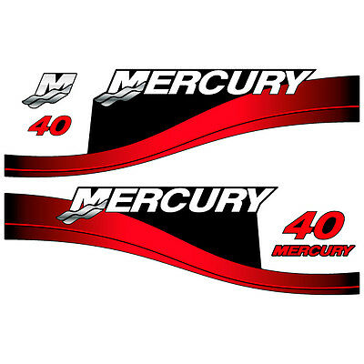 1999-2004 decal aufkleber sticker set Mercury 50 outboard