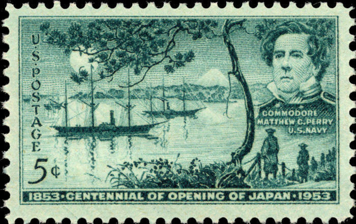 1953 5c Opening of Japan, Commodore Matthew C. Perry Sc