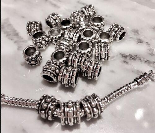 European Large Hole Bumpy Style Column Spacer Beads 7m X 6m X 4m 30 beads**SALE*