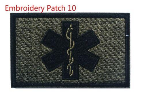 Medic nurse patchs armée LE MORAL Tactique Broderie Crochet Patch Veste Patches