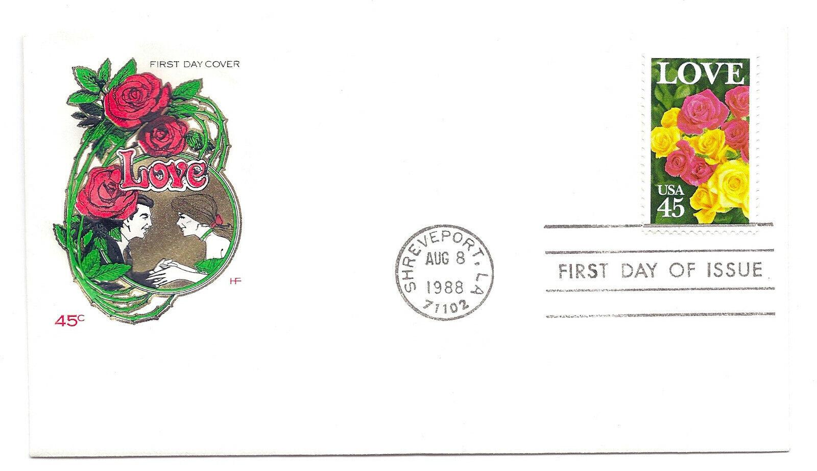 2379 45c Love 1988 Farnam, HF, FDC