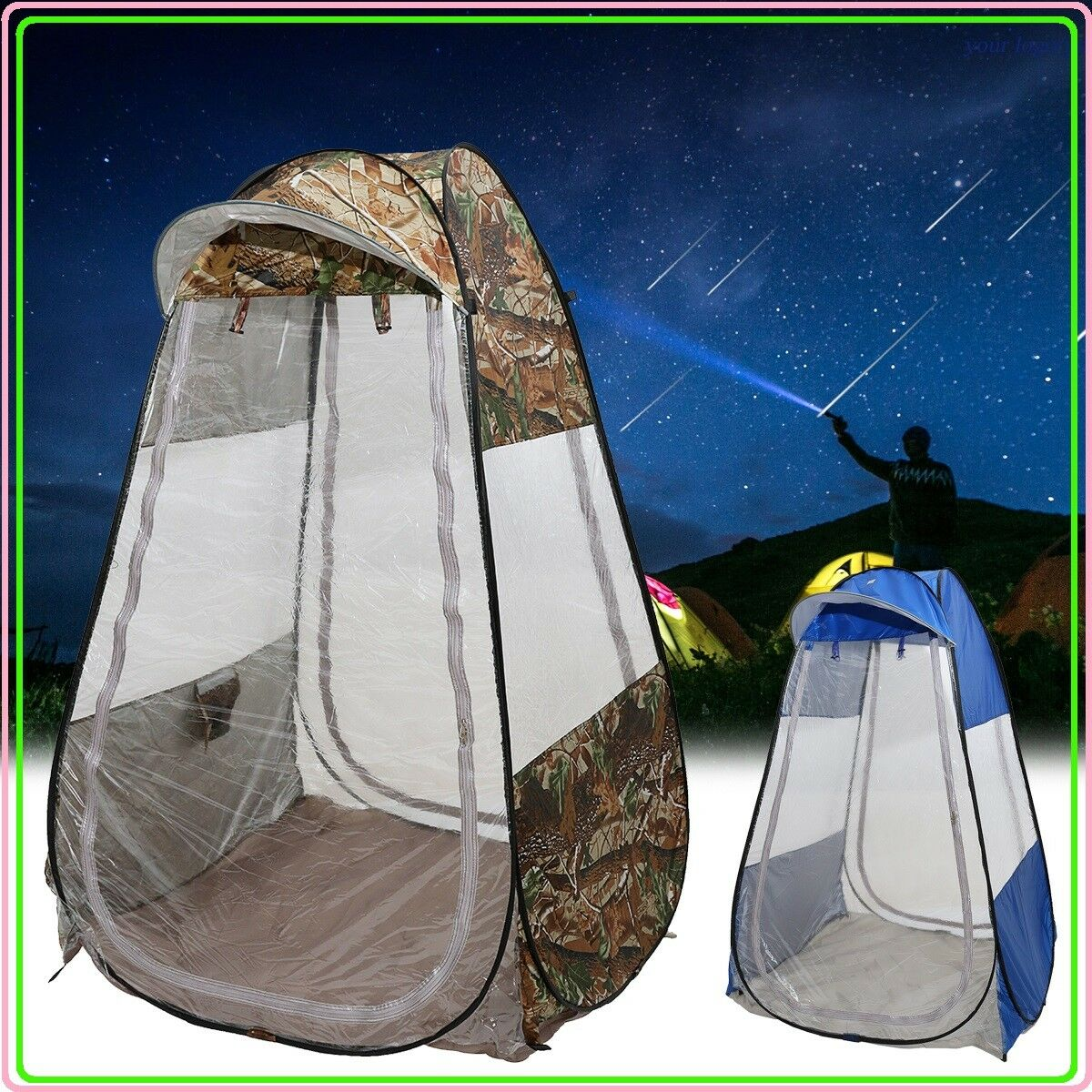Outdoor  Camping Single Pop-up Tent Waterproof Anti-UV Canopy Sunshade Shelter  great offers