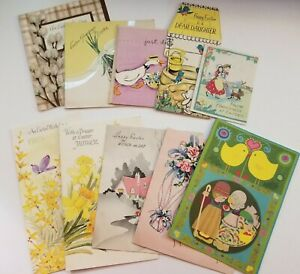 Vintage-Easter-Cards-Lot-of-10-Duck-Children-Well-Dutch-Boy-and-Girl