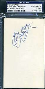 Carl-Yastrzemski-Psa-Dna-Coa-Autographed-3x5-Index-Card-Hand-Signed-Authentic