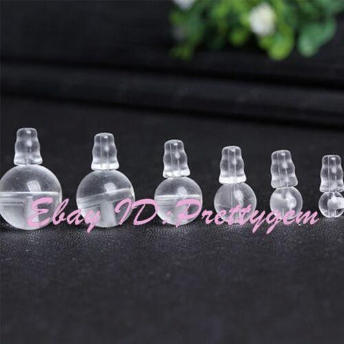 8-16mm Blanco Cristal De Roca Cuarzo ronda 5x7mm conjunto de piedras preciosas perlas 1 gurú de Tíbet