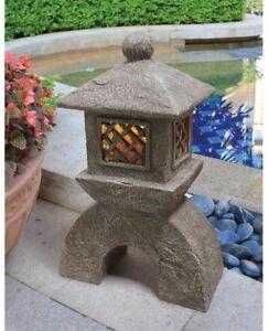 Details About Japanese Pagoda Garden Solar Lantern Statue Sculpture Asian Zen Outdoor Decor