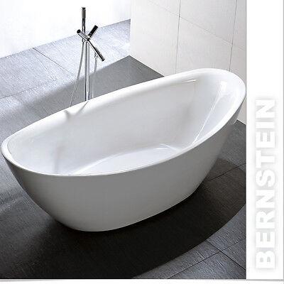 Freistehende Badewanne Acryl BELLAGIO weiß 180x86cm