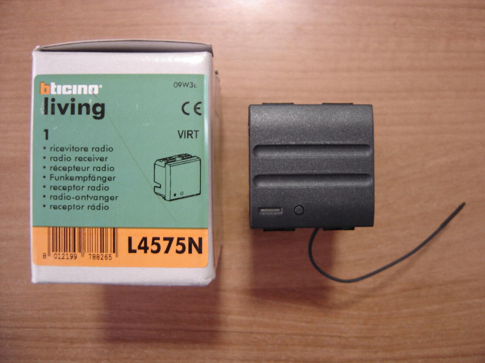 BTICINO L4575N LIVING INTERNATIONAL RICEVITORE INTERFACCIA  RADIO