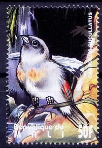 Mali-1995-MNH-Birds-Red-Siskin-Spinus-cucullatus-W6n