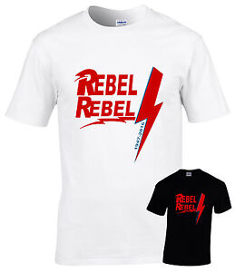 0b45e9ac08939b Image is loading David-Bowie-tribute-T-shirt-all-sizes-Rebel-