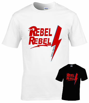 David Bowie tribute T-shirt,all sizes Rebel Rebel