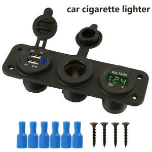 12V-24V-Car-Charger-Dual-USB-Port-Splitter-Socket-Power-Cigarette-Lighter-Outlet