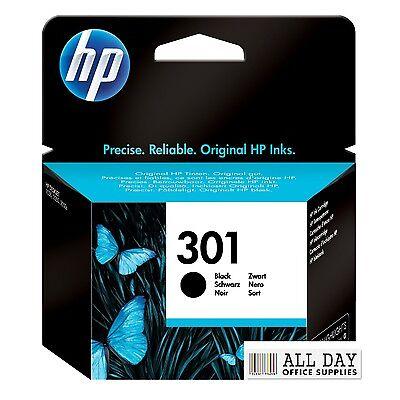HP Deskjet 1000 Printer Ink Cartridge Genuine Original 301 Black (CH561E)