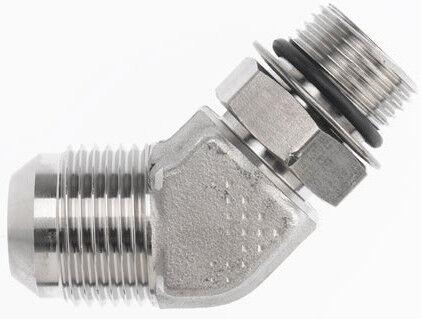 "6802-12-16 Hydraulic Fitting 3//4/"" Male JIC X 1/"" Male O-Ring 45 C5365"
