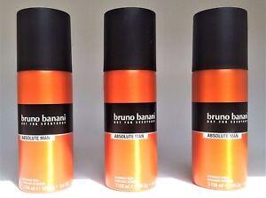 Bruno-Banani-Deo-Spray-Deodorant-ABSOLUTE-MAN-3-x-150-ml-EUR-3-67-100-ml