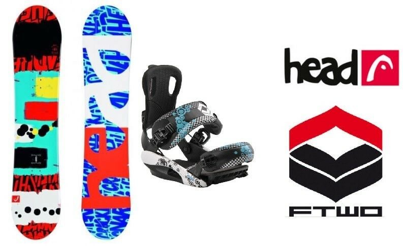 HEAD Rowdy JR 128 Snowboard Set Kinder inkl. FTWO Bloom Fastec Bindung Anfänger