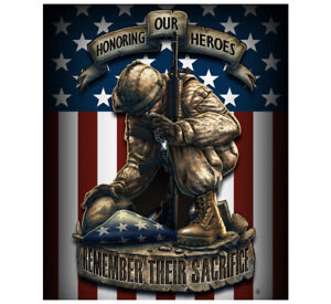"Fleece Throw Blanket 50"" x 60"" Military Army Marines American Flag Patriotic USA"