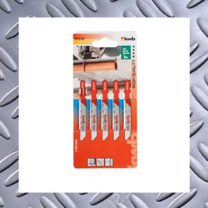 5x Stichsägeblätter T244D HCS T-schaft für Weichholz Laminat Kurvenschnitt Set