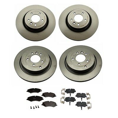2 Front Disc Rotors kit+Brake Pad Set for Land Rover LR4 Range Rover Sport HSE