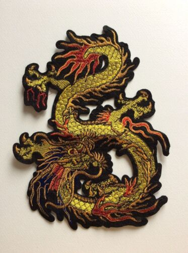 Z010 //// ECUSSON PATCH AUFNAHER TOPPA NEUF A COUDRE !! dragon chinois 23 cm