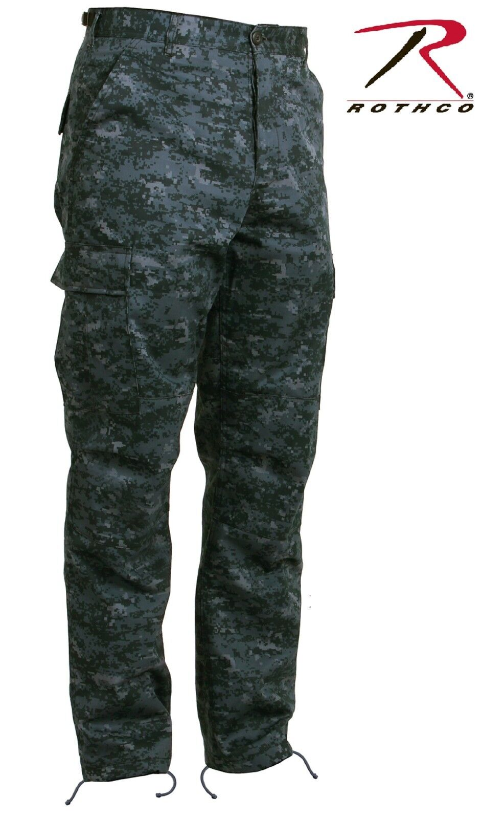 Midnight bluee Digital Camouflage BDU Cargo Pant - Mens Military Style Camo Pants