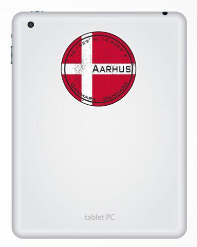 2 X 10cm Aarhus Dinamarca Pegatinas De Vinilo-Bandera Pegatina De Viaje Equipaje #20337