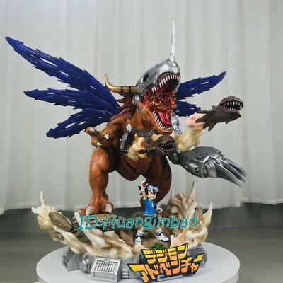 Digimon Adventure YAGAMI TAICHI Metal Greymon Resin Figurine Full Painted