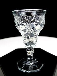 MCKEE-DEPRESSION-GLASS-ROCK-CRYSTAL-CLEAR-2-7-8-034-CORDIAL-1915-1944