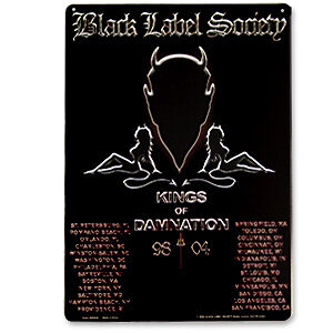5674edd7d5ae Details about BLACK LABEL SOCIETY 98 / 2004 TIN SIGNS METAL BAR OR POOL  ROOM New ✔️