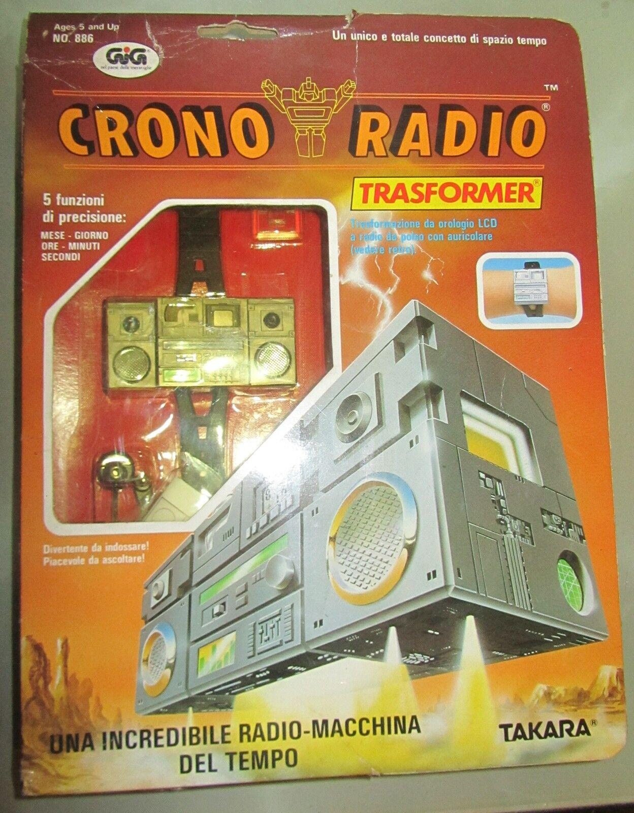 Crono Radio Trasformer Transformers Takara GIG Diaclone SPESE GRATIS