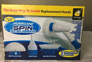 Hurricane-3-Pack-Spin-Scrubber-Replacement-Heads-As-Seen-On-Tv-New-SEALED-BOX