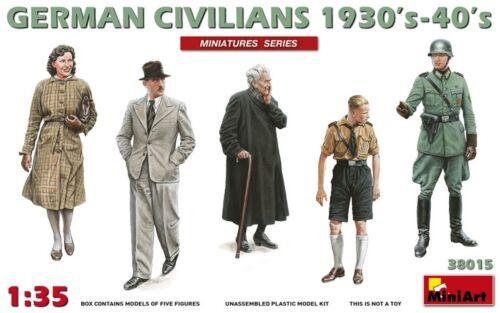 German Civilians 1930'S-1940'S Kit MINIART 1:35 MIN38015