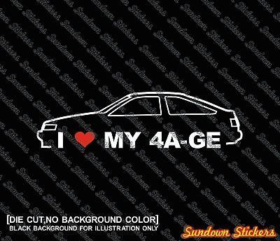 I Love Heart My Toyota MR2 Decal Die Cut