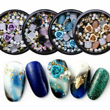 3D Nail Art Decoration Rose Rhinestones Jewelry Gems Mix Nails Glitter Tips DIY