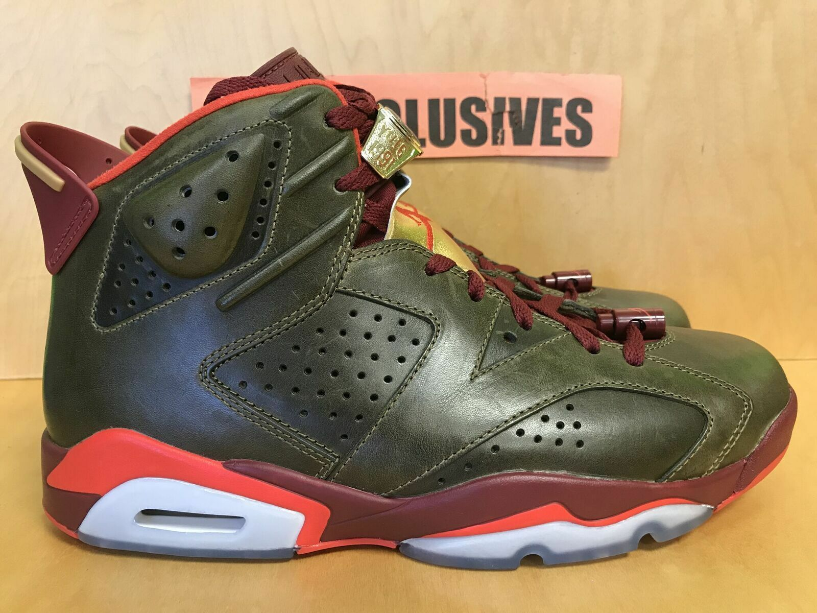 Nike Air Jordan VI Retro 6 Cigar Raw Umber Team Red-Metallic 384664-250 Size 10