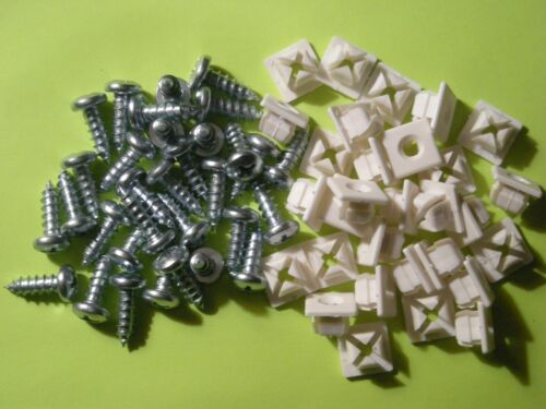 "License Plate Nuts Nylon Universal #14 With 3//4/"" Phillip Head Screws  Qty of 50"