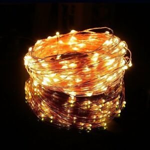 LED-Fairy-String-Lights-200-Warm-White-65-6-ft-Copper-Wire-Plug-In-Decor-Party