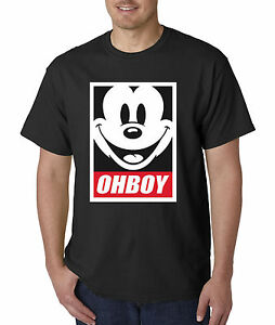 215e403892d New Way 416 - Unisex T-Shirt Oh Boy Mickey Face Anonymous Dope