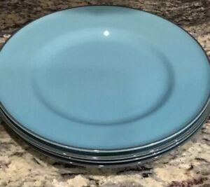 LOT-OF-2-ROYAL-DOULTON-GORDON-RAMSEY-BLUE-DINNER-PLATES-10-3-8-034-D-VERY-LIGHT-USE