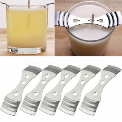 5Pcs Metal Candle Wick Centering Device Stainless Steel Candle Core Holder for DIY Candle Making