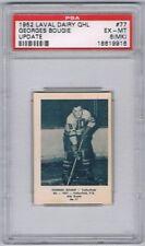 1952 Laval Dairy QHL Update Hockey Card  Valleyfield G. Bougie Graded PSA 6MK