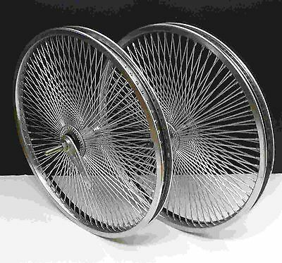 "LowRider Cruiser Bicycle 20""x1.75 140 spokes Chrome wheels"