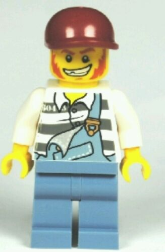 LEGO® City Minifigure Forest Police Jail Prisoner Robber Torn Overalls Town