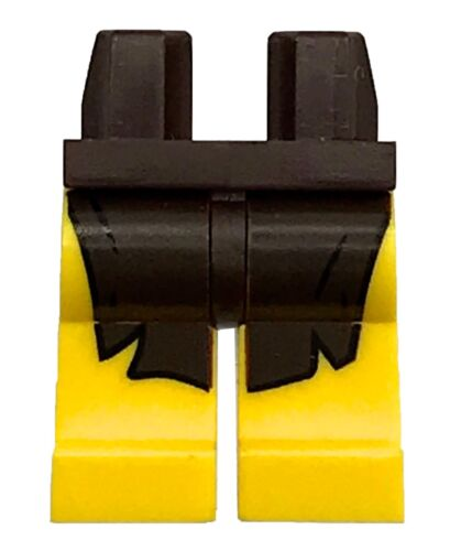 LEGO NEW YELLOW MINIFIGURE LEGS PANTS WITH DARK BROWN LOIN CLOTH PATTERN PIECE