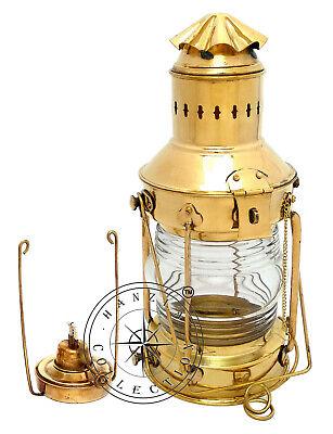10/'/'New Green Oil Lamp Antique Style Brass Lantern ~Nautical Navy Ship Handmade.