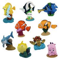 9pcs Disney Finding Nemo Marlin Dory Bruce Crush 3cm-6cm PVC Figures Set