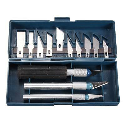 16 Piece Precision Hobby Craft Knife Scalpel Set - 3 Knives + 13 Cutting Blades